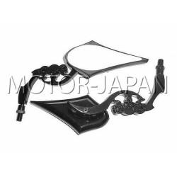 LUSTERKA CZARNE METAL CHOPPER HARLEY DRAG HARLEY KLASYK CRUISER M10 10MM