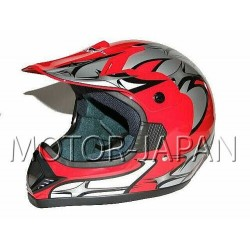 KASK CROSS ENDURO ATV QUAD CAN CZERWONY 606-RED/V