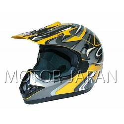 KASK CROSS ENDURO ATV QUAD ENDURO CAN ZOLTY YELLOW