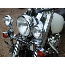 REFLEKTORY LIGHTBARY LAMPY PRZOD CHROMOWANE KOMPLET