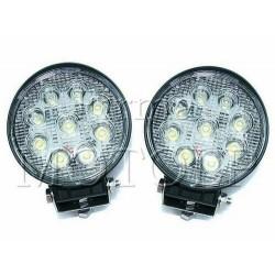 REFLEKTORY LIGHTBARY HALOGENY PRZOD LED 9 DIOD 12V