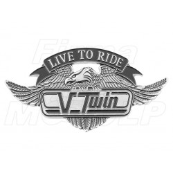 "ORNAMENT EMBLEMAT NAKLEJKA 3D ""LIVE TO RIDE"""