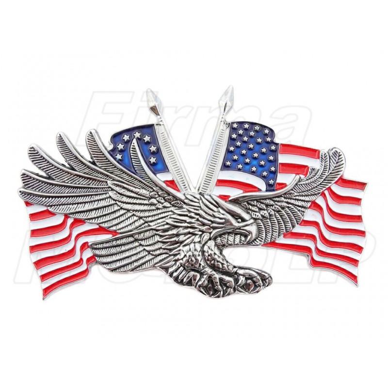 ORNAMENT EMBLEMAT NAKLEJKA 3D ORZEŁEK FLAGA USA