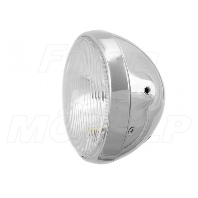 REFLEKTOR LIGHTBAR LAMPA PRZÓD METAL CHROM 7 CALI H4