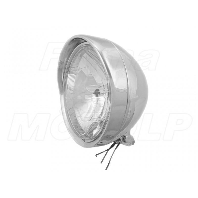 REFLEKTOR LIGHTBAR LAMPA PRZÓD 7 CALI CHROM METAL HOMOLOGACJA E4