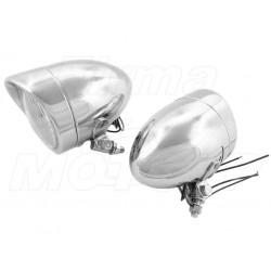 REFLEKTORY LIGHTBARY LAMPY PRZÓD 4 CALE CHROM HOMOLOGACJA E4