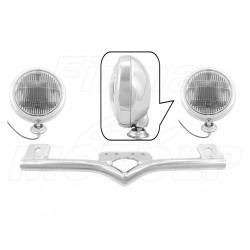 STELAŻ Z LAMPAMI LIGHTBARAMI HONDA VT 600 750 C DC VLX SHADOW BLACK WINDOW HOMOLOGACJA E4, 02B - PRZECIWMGŁOWE