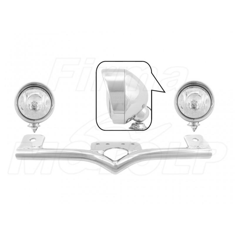 STELAŻ Z LAMPAMI LIGHTBARAMI HONDA VT 600 750 C DC VLX SHADOW BLACK WINDOW HOMOLOGACJA E9 HR - HALOGENOWE DROGOWE