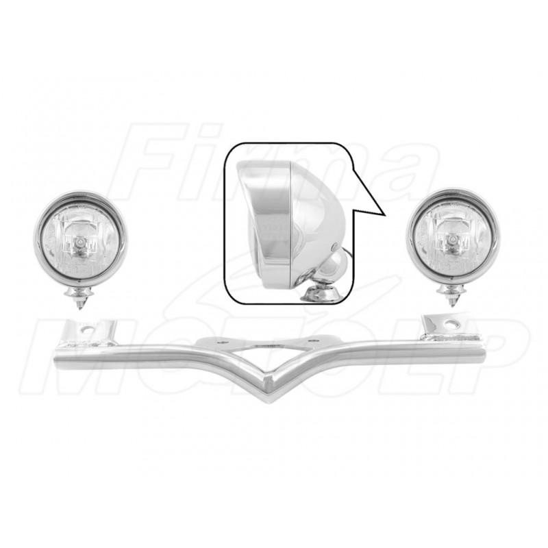 STELAŻ Z LAMPAMI LIGHTBARAMI HONDA VTX 1300 VTX1300 CX FURY HOMOLOGACJA E9 HR - HALOGENOWE DROGOWE