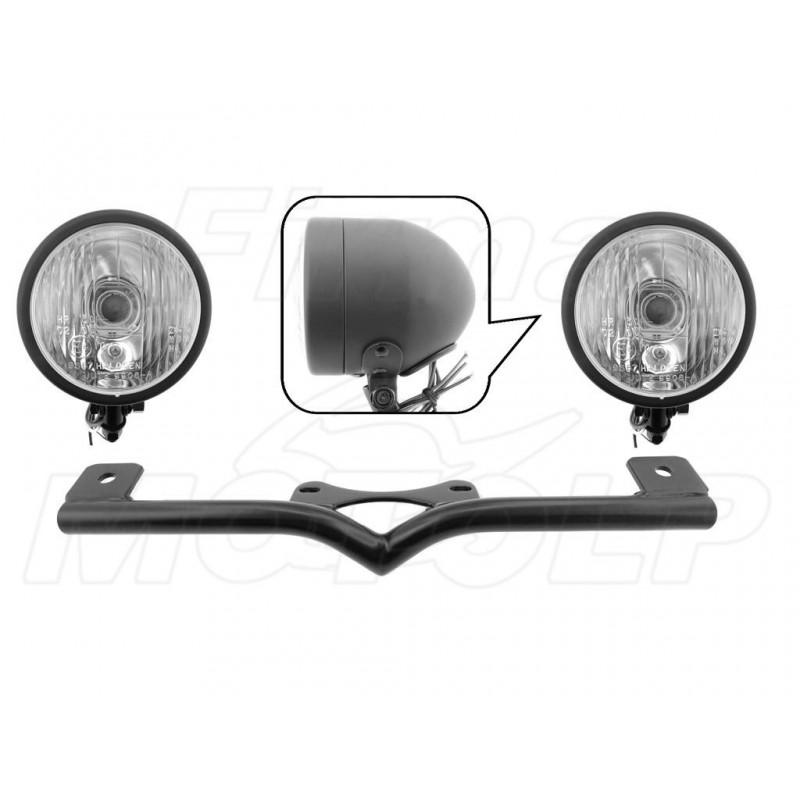 STELAŻ Z LAMPAMI LIGHTBARAMI KAWASAKI VN 1500 1600 MEAN STREAK HOMOLOGACJA E4 - HR
