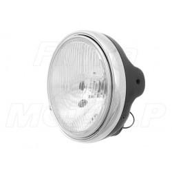 REFLEKTOR LAMPA CZARNY MAT - SUZUKI GSX GSF BANDIT / HONDA CB HOMOLOGACJA E4