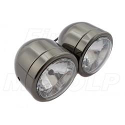 REFLEKTOR LIGHTBAR LAMPA PODWÓJNA CZARNY CHROM HOMOLOGACJA E11