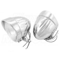 REFLEKTORY LIGHTBARY DODATKOWE LAMPY PRZÓD 4,5 CALA CHROM