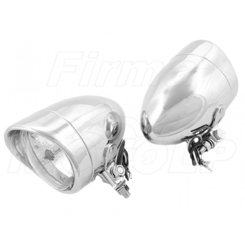 REFLEKTORY LIGHTBARY LAMPY PRZÓD 4 CALE CHROM HOMOLOGACJA E9