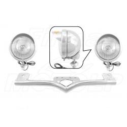 STELAŻ Z LAMPAMI LIGHTBARAMI HONDA VT 600 750 C DC VLX SHADOW BLACK WINDOW