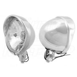REFLEKTORY LIGHTBARY LAMPY PRZÓD 5,5 CALA CHROM HOMOLOGACJA E9