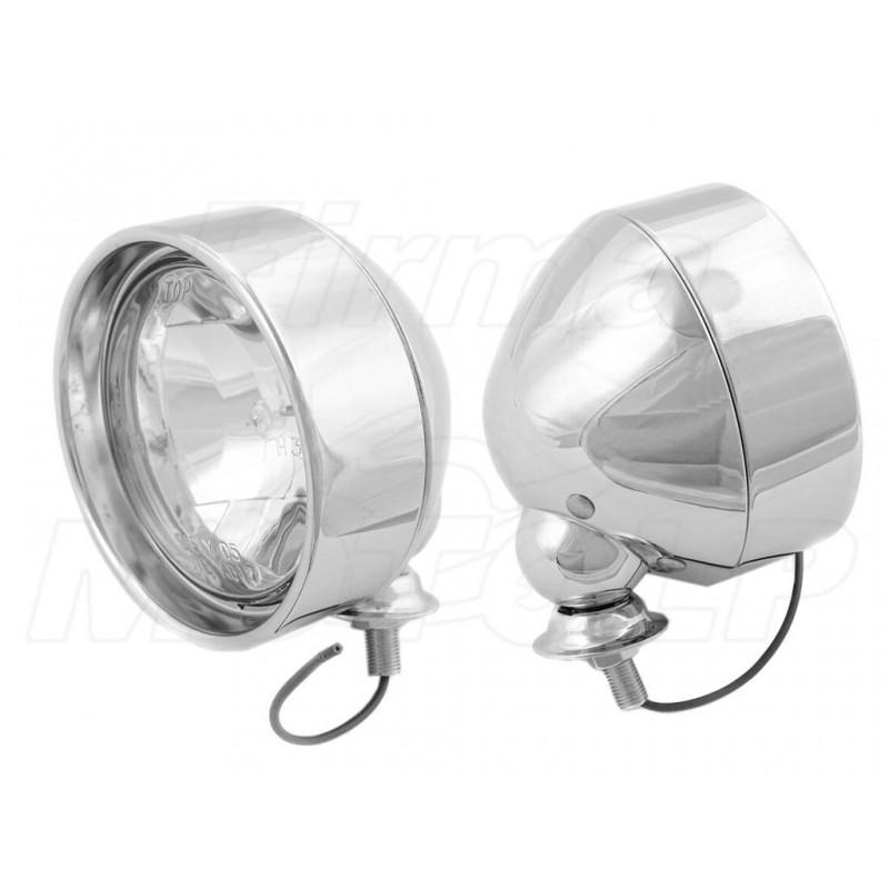 REFLEKTORY LIGHTBARY LAMPY PRZÓD 4 CALE CHROM HOMOLOGACJA E9 HR