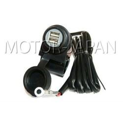 GNIAZDO USB NA KIEROWNICE MOTOCYKLOWA 5V 2A